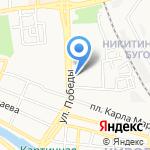 Деловая женщина на карте Астрахани