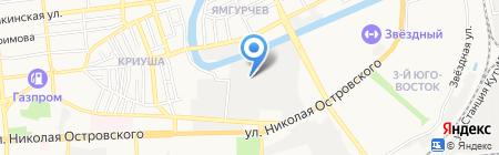 Рыбный край на карте Астрахани