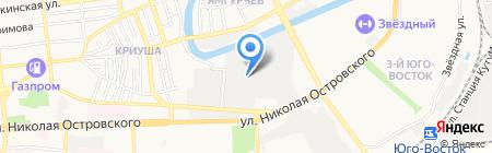 Пенопласт на карте Астрахани