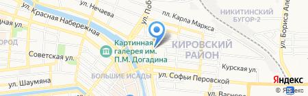Живая сила на карте Астрахани