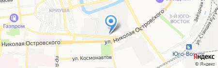 Легион на карте Астрахани