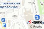 Схема проезда до компании Сувенирный киоск в Астрахани