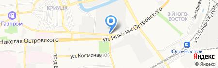 Продуктовый магазин на ул. Джона Рида на карте Астрахани