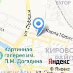 Авария на карте Астрахани