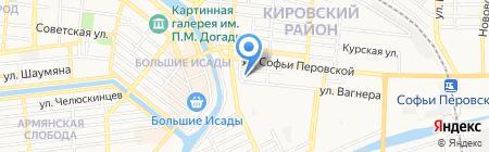Гараж на карте Астрахани