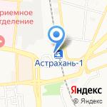 Астраханские сувениры на карте Астрахани