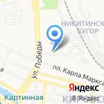 Делис на карте Астрахани