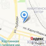 Муниципальное унитарное автобусно-троллейбусное предприятие г. Астрахани на карте Астрахани