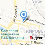 Магазин модной мебели и плитки на карте Астрахани