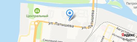 Церковь Христиан Веры Евангельской на карте Астрахани