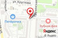 Схема проезда до компании Продуктовый магазин на ул. Барсовой в Астрахани