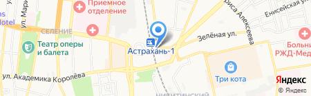 До рассвета на карте Астрахани