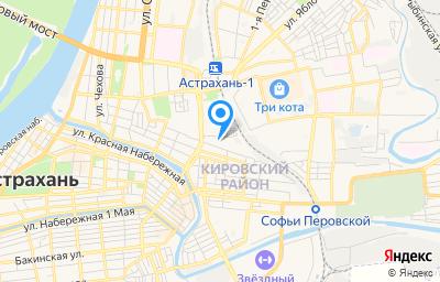 Местоположение на карте пункта техосмотра по адресу г Астрахань, пл Карла Маркса, д 35 стр д