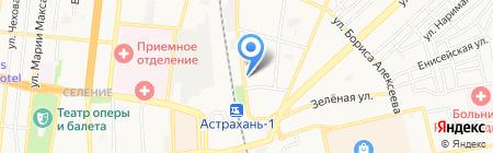 Территориальная организация профсоюза железнодорожников и транспортных строителей на Астраханском отделении ПЖД на карте Астрахани