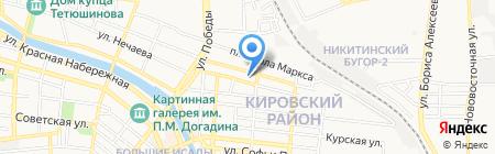 Сантехсервис на карте Астрахани
