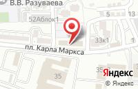Схема проезда до компании Юнивер в Астрахани