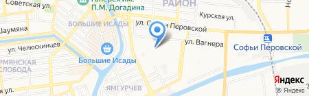 Ателье по пошиву и ремонту одежды и обуви на карте Астрахани