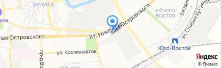 Елисей на карте Астрахани