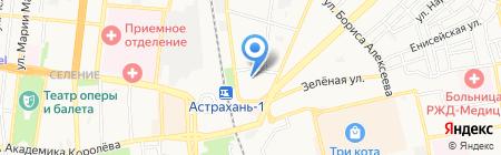 Союз-5 на карте Астрахани