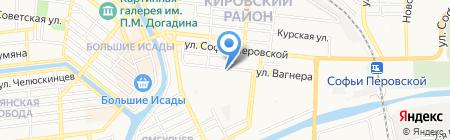 Продуктовый магазин на ул. Барсовой на карте Астрахани