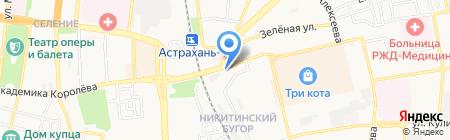 Слобода на Герасименко на карте Астрахани