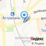 Слобода на карте Астрахани