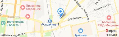 Астраханский линейный отдел МВД России на транспорте на карте Астрахани