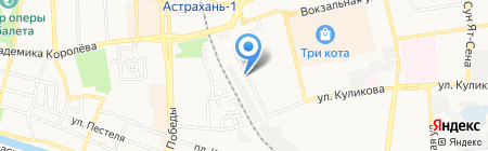 Продуктовый магазин на ул. Генерала Герасименко на карте Астрахани