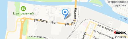 Левша на карте Астрахани