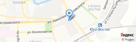 Двери в дом на карте Астрахани
