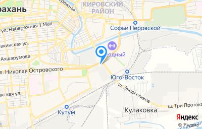 Местоположение на карте пункта техосмотра по адресу г Астрахань, ул Николая Островского, д 148
