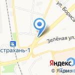 Дымкофф на карте Астрахани