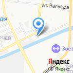 Юг-Арсенал на карте Астрахани
