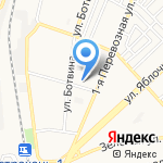 Пушинка на карте Астрахани