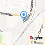 Астарта на карте Астрахани