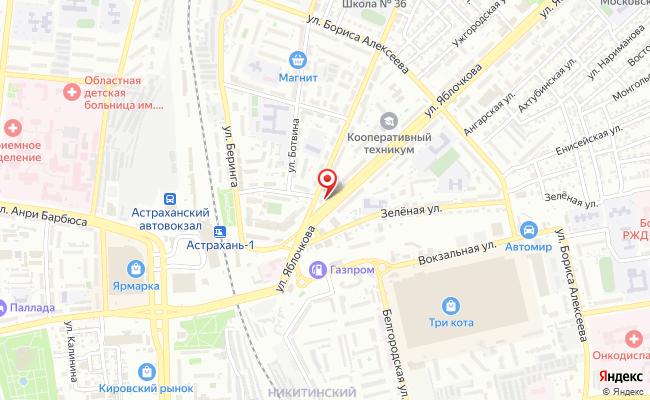 Карта расположения пункта доставки Аксессуары для сотовых телефонов и ноутбуков в городе Астрахань