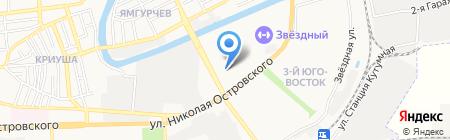 Автомастерская по замене масла на карте Астрахани