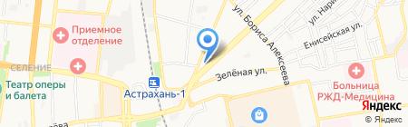 Антонина на карте Астрахани