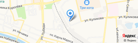 Обслуживающая организация на карте Астрахани