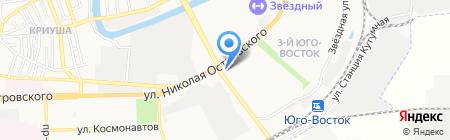 Кубанская Гроздь на карте Астрахани