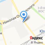 Звездный на карте Астрахани