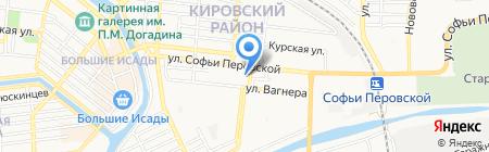 Олехаус на карте Астрахани
