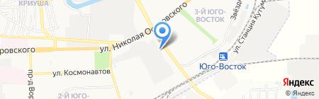 Калинка на карте Астрахани