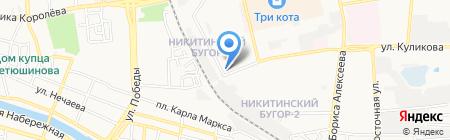 Не болей-ка на карте Астрахани
