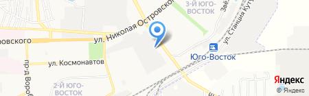 Теплый дом на карте Астрахани