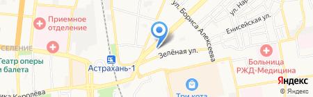 Агровнедрение на карте Астрахани