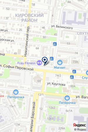 Орли на карте Астрахани