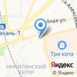 Колосок на карте Астрахани