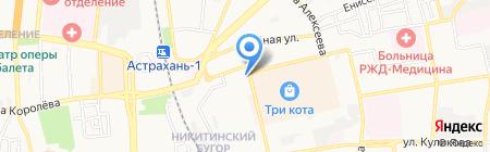 Магазин спецодежды и хозяйственных товаров на карте Астрахани