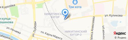Газпромприбор на карте Астрахани